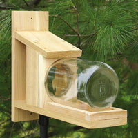 Glass Jar Cedar Squirrel Feeder
