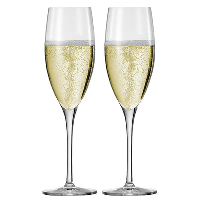 Superior Crystal Champagne Glass Set of 2