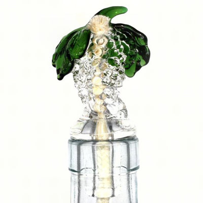 Grapes Glass Bottle Neck Winelight Clear
