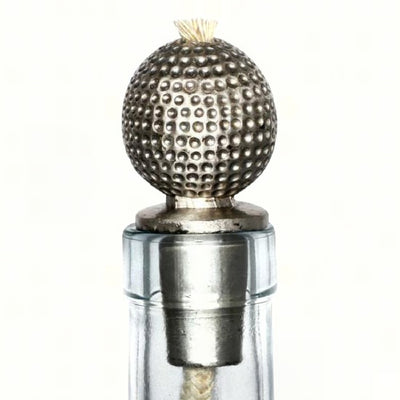Golf Ball Pewter Bottle Neck Winelight