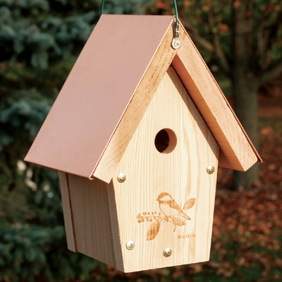 Coppertop Hanging Chickadee Birdhouse - Momma's Home Store