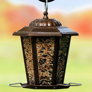 Copper Carriage Lantern Bird Feeder