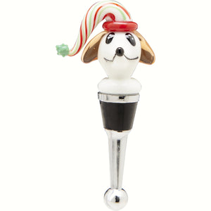 Christmas Dog Wine Bottle Stopper