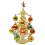 Buon Natale Glass Tree Gold 10 inch