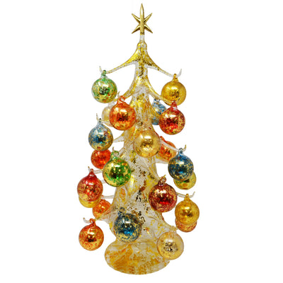 Buon Natale Glass Tree Gold 20 inch
