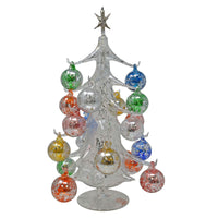 Buon Natale Glass Tree Silver 16 inch