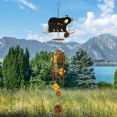 Babes Bear Metal Wind Chime