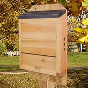 Cedar Triple Chamber Bat House