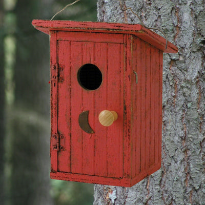 Birdy Loo Wooden Birdhouse Red