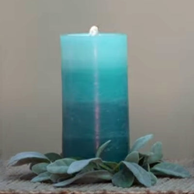Blue LED Wax Candle Fountain