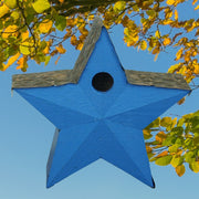 American Star Wooden Birdhouse Blue