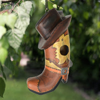 Cowboy Boot & Hat Birdhouse