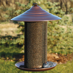 Brushed Copper Nyjer Bird Feeder