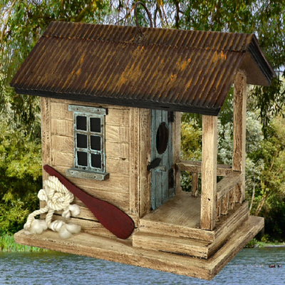 Boat Shack Wooden Birdhouse