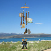 Camping Bear Metal Wind Chime