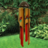 Cardinal Tubes Bamboo Wind Chime Medium