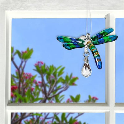 Fantasy Glass Dragonfly Crystal Suncatcher
