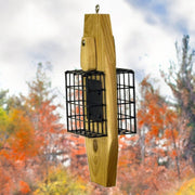 Cedar Double Suet Basket Bird Feeder w/Tail