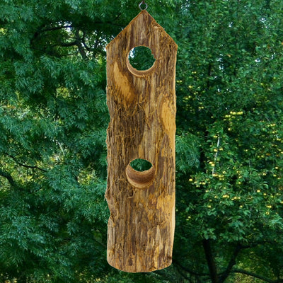 Cedar Suet Log Bird Feeder 4 Plug