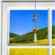 Hummingbird Fantasy Crystal Suncatcher