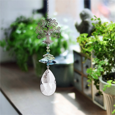 Tree of Life Fantasy Crystal Suncatcher
