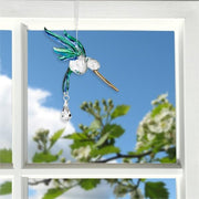 Fantasy Glass Hummingbird Crystal Suncatcher