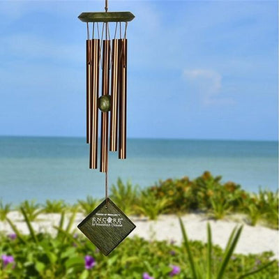 Chimes of Mercury Green Wash Wind Chime 14