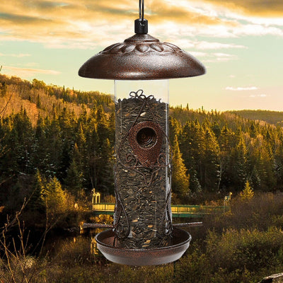 Decorative Tube Bird Feeder
