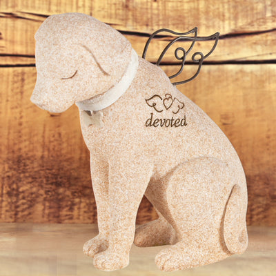Devoted Dog Angel Figurine