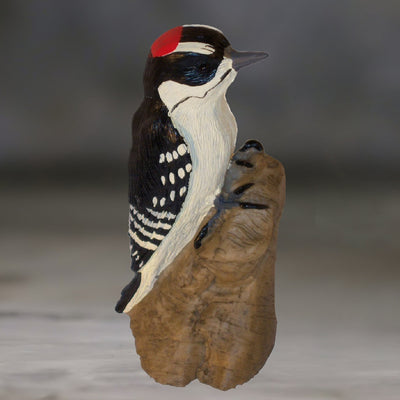 Downy Woodpecker Figurine Table Sculpture