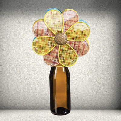 Delicate Flower Wine Bottle & Cork Holder
