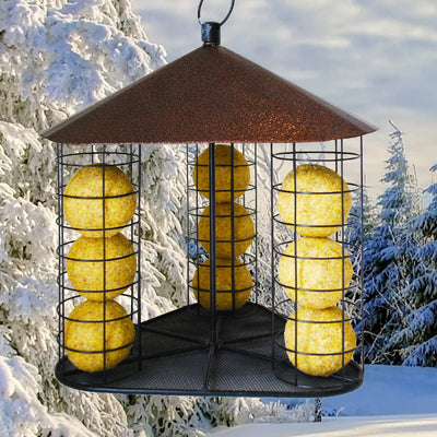 Fly-Through Suet Ball Bird Feeder