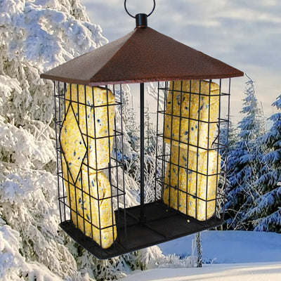 Fly-Through Suet Cake Bird Feeder