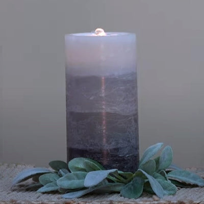 Grey LED Wax Candle Fountain