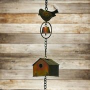 Bird Houses & Birds Flamed Ornament 48 inch