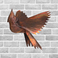 Cardinal Flamed Hanging Sculpture - Momma's Home Store