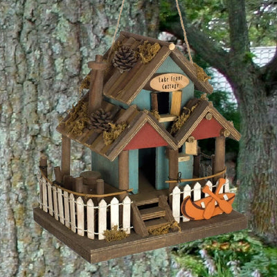 Lake Front Cottage Wooden Birdhouse