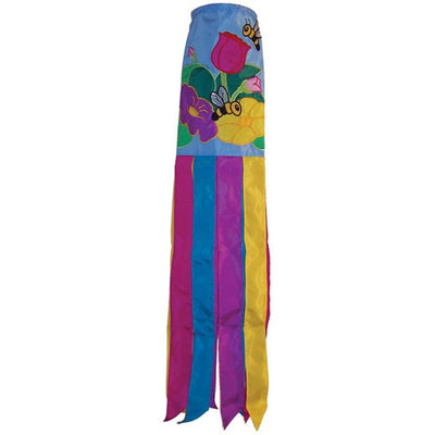 Floral Bee Decorative Windsock 40 inch