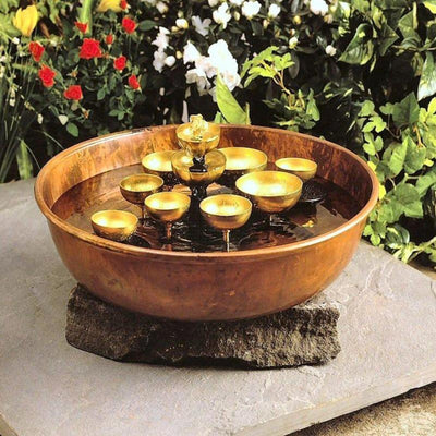 Woodstock Water Bell Fountain Copper Bowl