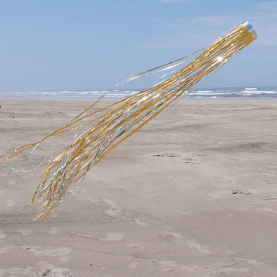 Holographic Windsock Gold 51 inch