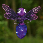 Solar Light Dragonfly Lantern - Purple