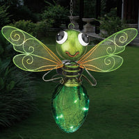 Solar Light Dragonfly Lantern - Green