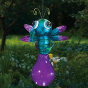 Solar Light Firefly Lantern - Purple