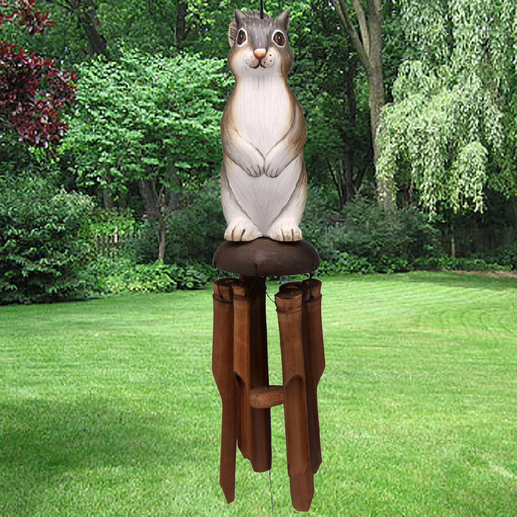 Squirrel Bamboo Wind Chime