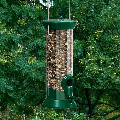 Sunflower/Mixed Seed Feeder Green 8 inch