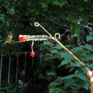 Whimsy Wand Copper Hummingbird Feeder
