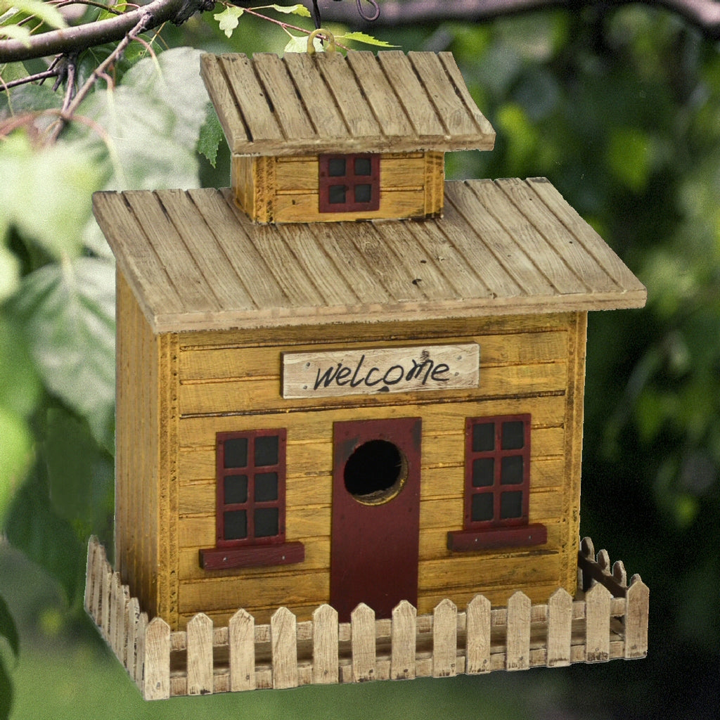 Beach Cottage Wooden Birdhouse