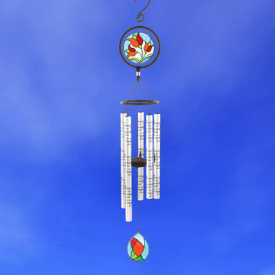 In Memory Stained Glass Sonnet Chime 35 inch