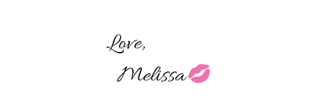 Melissa's Signature with a kiss