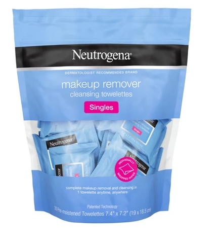 Neutrogena makeup remover wipe singles bag